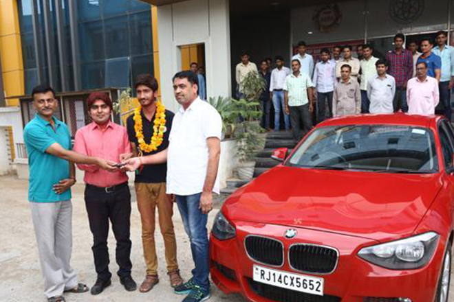 Rajasthan coaching institute gifts BMW to JEE 11th rank holder