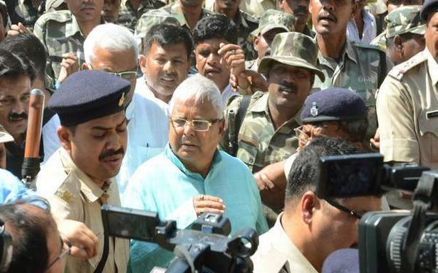 Lalu sentenced to 14 yrs in prison in fourth fodder scam case