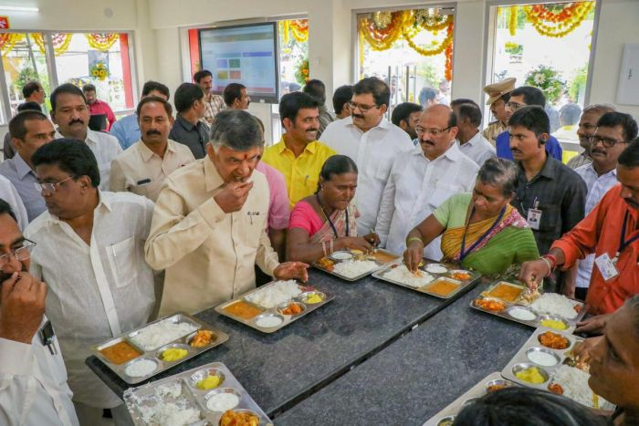 Andhra Pradesh govt launches 'Anna Canteens'