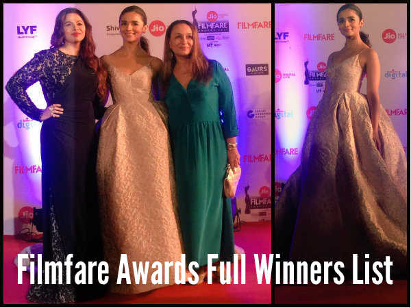 Filmfare Awards 2017: Complete List Of Winners