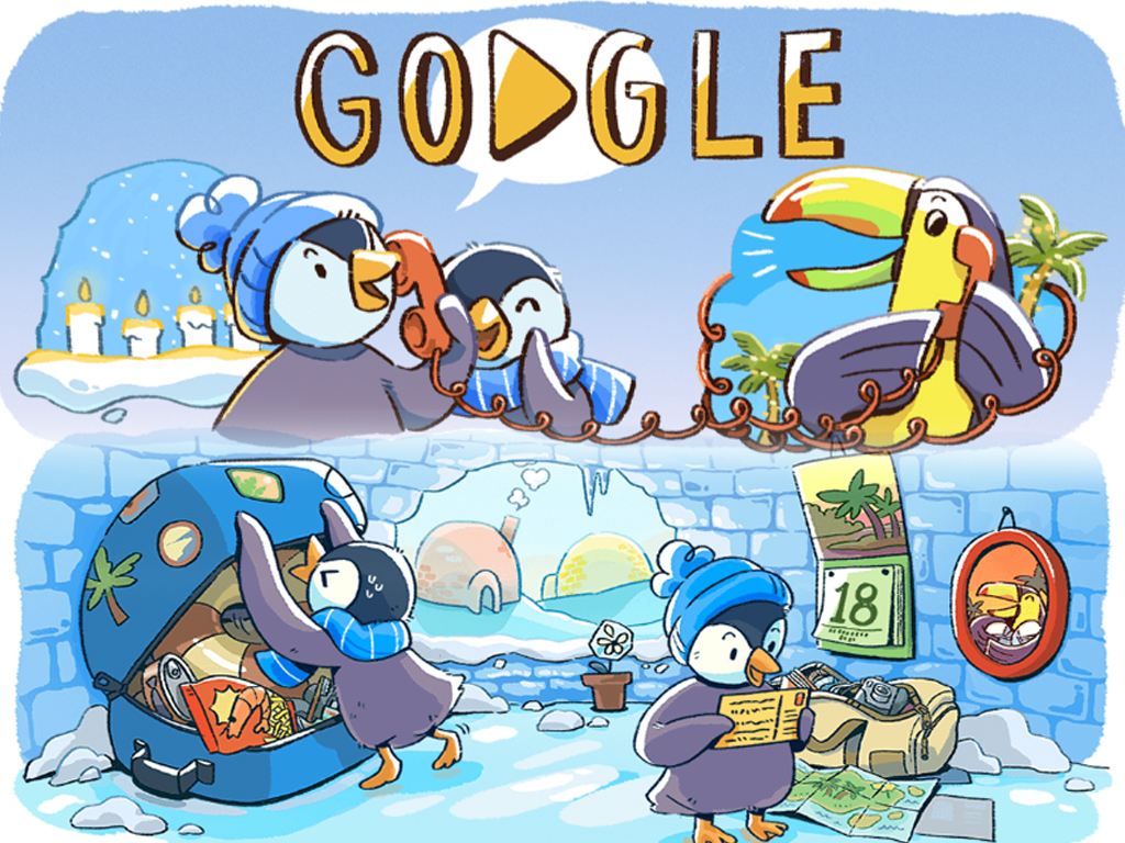 Google Doodle celebrates commencement of December global festivities
