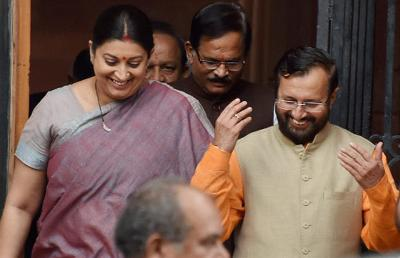 Will take forward good initiatives of Smriti Irani: Prakash Javadekar