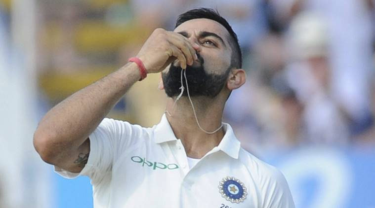 Virat Kohli celebrates in style, dedicates his Test century to Anushka Sharma