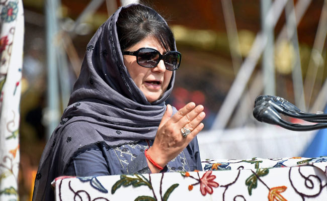 Mehbooba condemns killing of soldier in Shopian