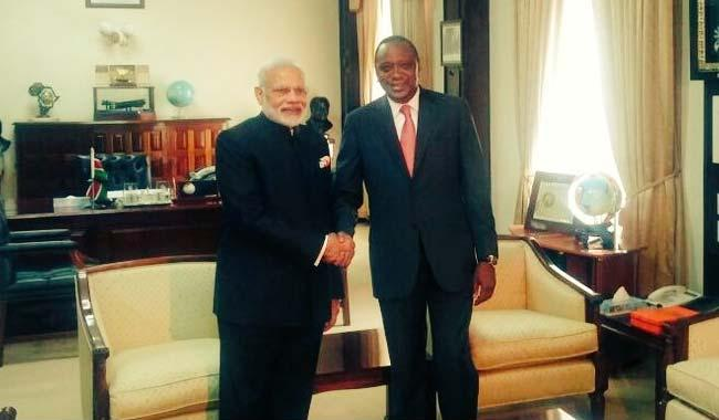 PM Narendra Modi holds talks with Kenyan President