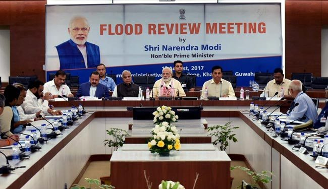 PM announces package of Rs 2,350 cr for floods in NE