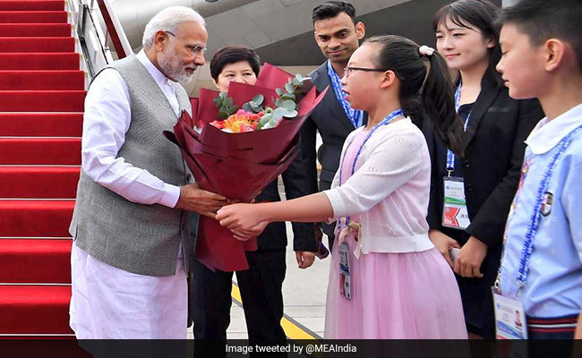 PM Narendra Modi arrives in Qingdao to attend SCO summit