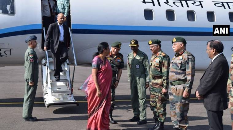 Defence Minister Nirmala Sitharaman reaches J&K for two-day visit, to review security situation