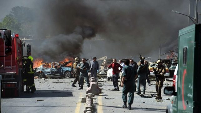 Suicide blast in Afghanistan's capital Kabul kills at least 26, several injured