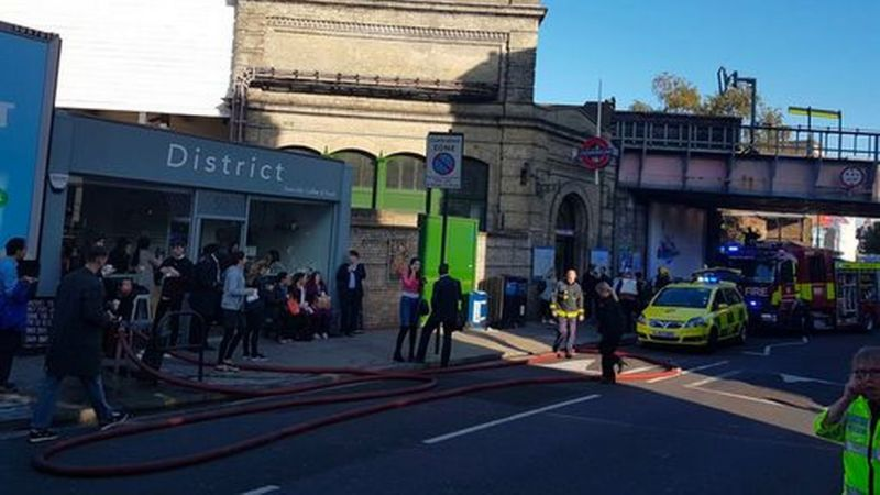 Several injured after explosion at Tube train station in London
