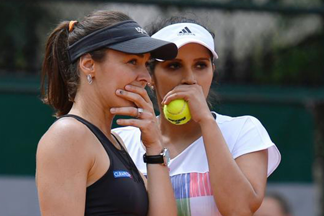 Sania Mirza, Martina Hingis miss out on 'Santina Slam'