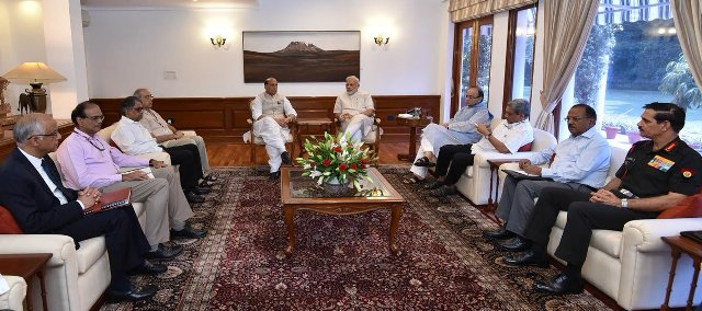 PM chairs meet with top Ministers and officials on Kashmir
