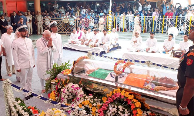State Funeral For Goa Chief Minister Manohar Parrikar, PM Pays Respects