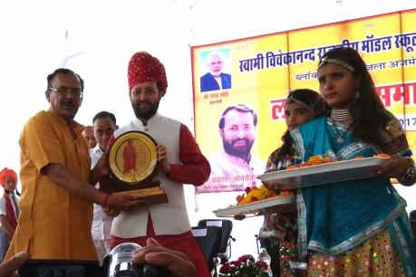 Javadekar inaugurates school in Makadwali village of Ajmer
