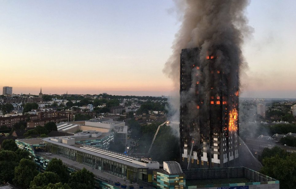 London fire: Many feared dead as massive flames engulf 24-storey Grenfell Tower