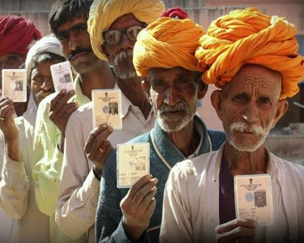 Rajasthan polls : Over 20 per cent voter turnout in first three hours of voting
