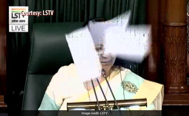 Six Congress MPs suspended for throwing papers in Lok Sabha