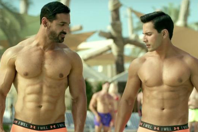 John is seen in underwear in every fourth film, just the colour changes: Varun