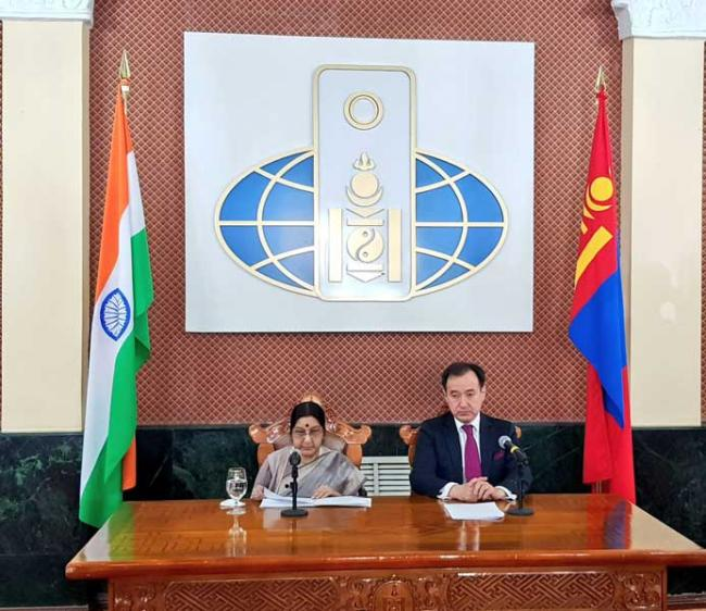 Mongolia not only India's strategic partner but 'spiritual neighbour': Swaraj