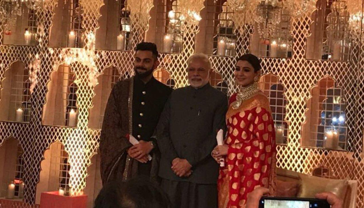 PM Modi attends Anushka-Virat's reception
