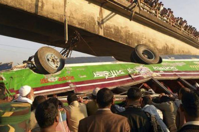 Bangladesh: 9 dead as bus falls into canal in Madaripur